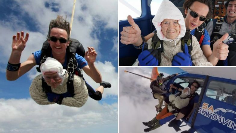 102-Year Old Daredevil Breaks World Record for Oldest Skydiver